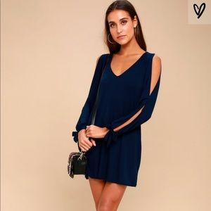 GLORY OF LOVE NAVY BLUE SHIFT DRESS